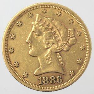 obverse: USA. 5 Dollari Liberty 1886. Au.