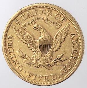 reverse: USA. 5 Dollari Liberty 1886. Au.