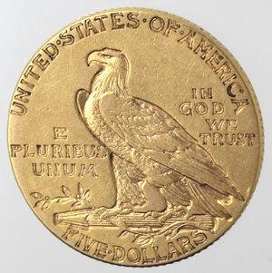 obverse: USA. 5 Dollari Indian Head 1912. Au.