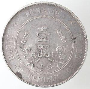 reverse: Cina. Repubblica. 1912-1949. Yuan 1912. Ag.