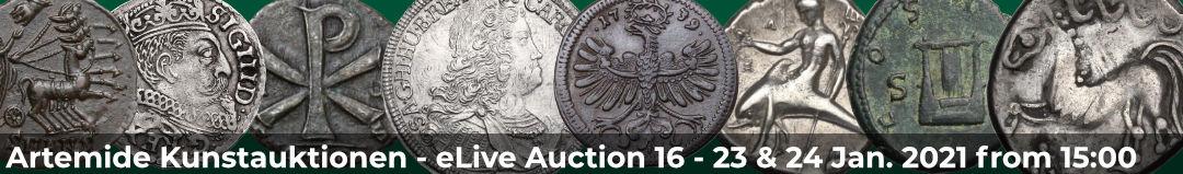 Banner Artemide eLive Auktion 16