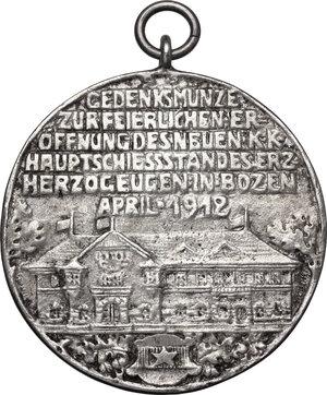 reverse: Austria. AR Medal 1912, Auf die Eröffnung des neuen k.k. Hauptschießstandes