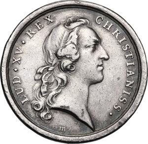 obverse: France.  Louis XV (1715-1774). AR Medal, 1747