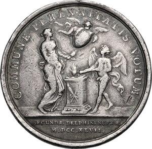 reverse: France.  Louis XV (1715-1774). AR Medal, 1747
