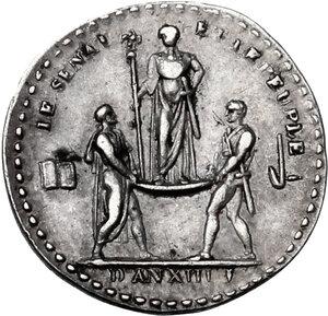reverse: France.  Napoleon Bonaparte (1801-1815).. AR Medal, AN XIII (1804) for the Coronation of Napoleon as Emperor