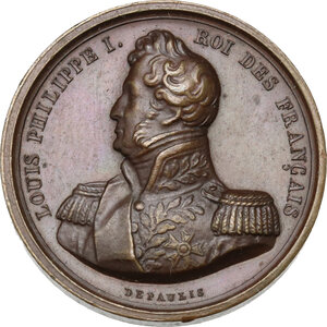 obverse: France.  Louis Philippe I (1830-1848). . AE Medal 1836 for the inauguration of the arch built in 1806 under Napoleon