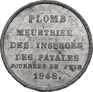 reverse: France. Tin Medal 1848 for the insurrection