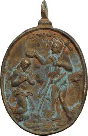 obverse: Italy.. AE Religious medal, c. 17th century