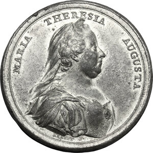 obverse: Italy .  Maria Theresia (1740-1780). WM Medal 1773 for the annexion to Mantova of the provinces of Castiglione, Medula and Solferino