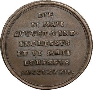 reverse: Italy..  Pius VI (1775-1799), Giovanni Angelo Braschi. AE Medal, 1782