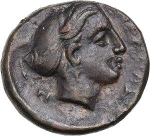 reverse: Thessaly, Phalanna. AE Chalkous, 4th century BC
