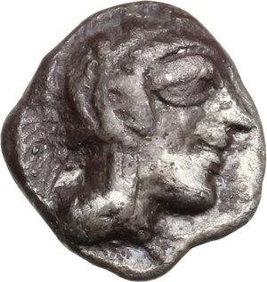 obverse: Attica, Athens. AR Obol, 479-393 BC