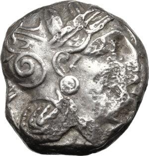 obverse: Attica, Athens. AR Tetradrachm, circa 454-404 BC. Contemporary imitation