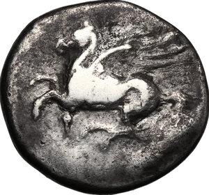 obverse: Corinthia, Corinth. AR Stater, 386-307 BC