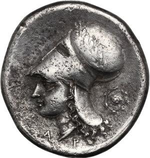 reverse: Corinthia, Corinth. AR Stater, 386-307 BC