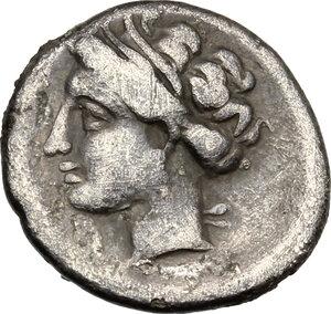 reverse: Corinthia, Corinth. AR Hemidrachm, 150-120 BC