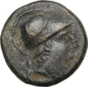 obverse: Paphlagonia, Sinope.  Temp. of Mithradates VI Eupator (85-65 BC). . AE 20 mm