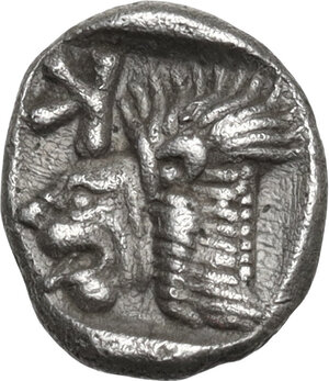 reverse: Mysia, Kyzikos. AR Obol, c. 450-400 BC