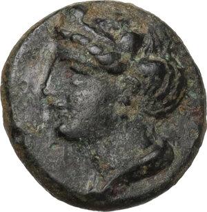 obverse: Ionia, Ephesos. AE 10 mm. c. 375 BC