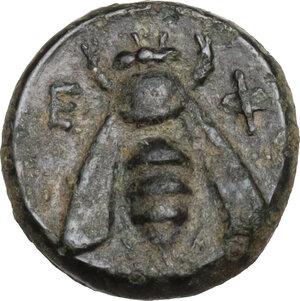 reverse: Ionia, Ephesos. AE 10 mm. c. 375 BC