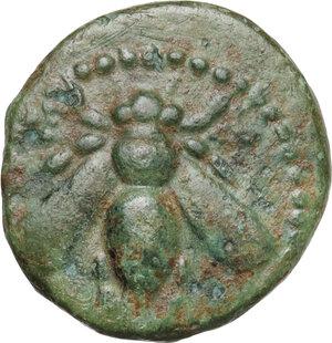 obverse: Ionia, Ephesos. AE 16 mm, c. 200 BC, Apollodoros magistrate