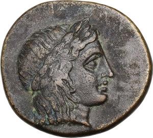 obverse: Ionia, Kolophon. AE 15 mm, circa 360-330 BC. Dionysiphanes, magistrate