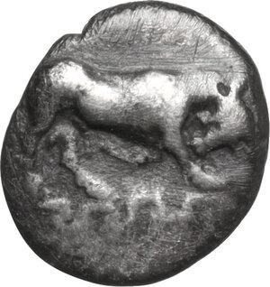obverse: Ionia, Magnesia ad Maeandrum. AR Hemiobol, circa 400-350 BC