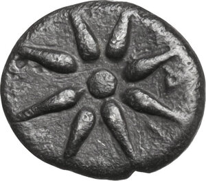 reverse: Ionia, Magnesia ad Maeandrum. AR Hemiobol, circa 400-350 BC