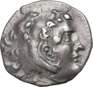 obverse: Islands off Ionia, Chios. AR Drachm imitating Alexander III of Macedon, 3rd century BC