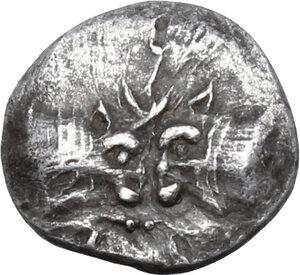 obverse: Caria, uncertain mint. AR Hemiobol, 5th century BC