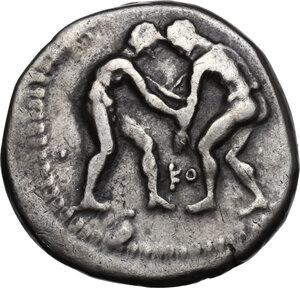 obverse: Pamphylia, Aspendos. AR Stater, circa 330/05-300/250 BC