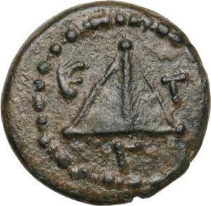 reverse: Cappadocia, Caesarea-Eusebia.  Pseudo-autonomous issue. Temp. of Trajan.. 1/3 Assarion, 80/1 or 100/1 AD