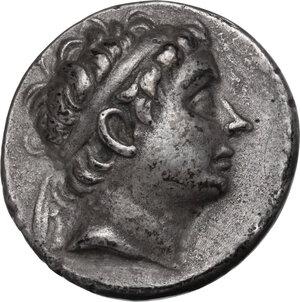 obverse: Syria, Seleucid Kings.  Antiochos III Megas (222-187 BC) . AR Tetradrachm. Antioch on the Orontes mint. Series 1, circa 223-211/0 BC