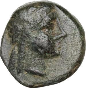 obverse: Syria, Seleucid Kings.  Antiochos III Megas (222-187 BC) . AE 10 mm, Sardes mint, c. 222-187