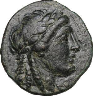 obverse: Syria, Seleucid Kings.  Achaios (Usurper, 220-214 BC). AE 18 mm. Sardes mint