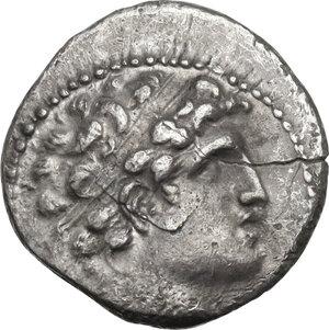 obverse: Syria, Seleucid Kings.  Alexander I Balas (152-145 BC).. AR Drachm. Antioch mint. Dated SE 163 (150/49 BC)
