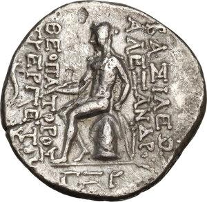 reverse: Syria, Seleucid Kings.  Alexander I Balas (152-145 BC).. AR Drachm. Antioch mint. Dated SE 163 (150/49 BC)