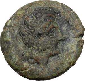 obverse: Anonymous. AE Double litra, 275-270 BC, Neapolis mint