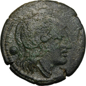obverse: L (first heavy) series.. AE Uncia, 214-212 BC, Luceria mint