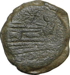 reverse: Anonymous, Star (first) series..  AE As, Rome, (169-158 BC)