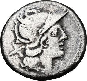 obverse: Anonymous. AR Denarius, 189-180 BC
