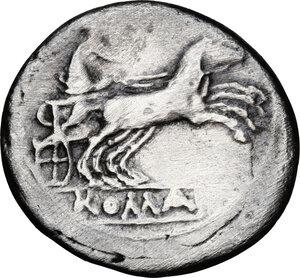 reverse: Anonymous. AR Denarius, 189-180 BC