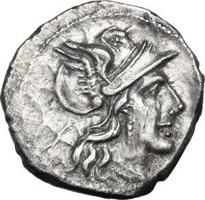 obverse: Matienus.. AR Denarius, 179-170 BC