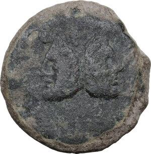 obverse: Balbus.. AE As, 169-158 BC
