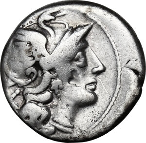 obverse: Anonymous. AR Denarius, circa 157-156 BC