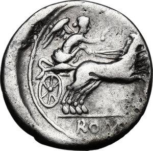 reverse: Anonymous. AR Denarius, circa 157-156 BC