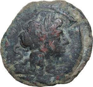 obverse: Pinarius Natta.. AE Semis, 155 BC