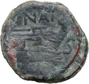 reverse: Pinarius Natta.. AE Semis, 155 BC