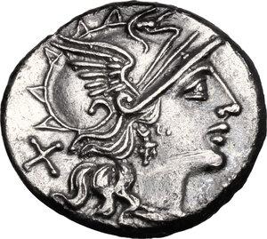 obverse: Pinarius Natta.. AR Denarius, 149 BC