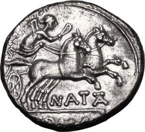 reverse: Pinarius Natta.. AR Denarius, 149 BC